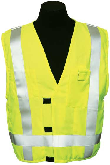 ML Kishigo - ARC Series 3 Class 2 Safety Vest color Lime material: Modacyrilic Mesh, size Large