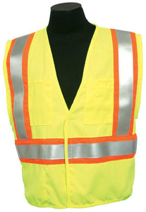ML Kishigo - FR Pro Series Class 2 Safety Vest color Lime material: Modacrylic Mesh, size Medium
