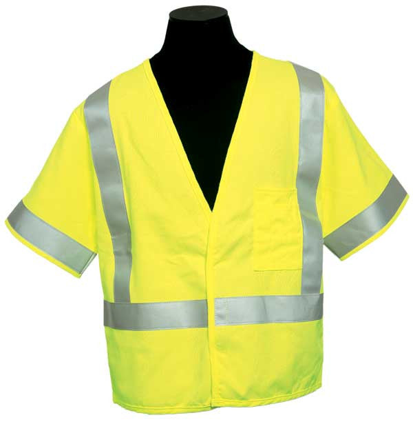 ML Kishigo - ARC Series 1 Class 3 Safety Vest color Lime material: Modacrylic, size 2X-large