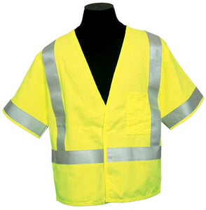 ML Kishigo - ARC Series 1 Class 3 Safety Vest color Lime material: Modacrylic, size 4X-large