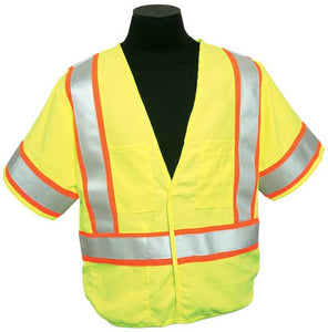 ML Kishigo - FR Pro Series Class 3 Safety Vest color Lime material: Modacrylic Mesh, size 4X-large
