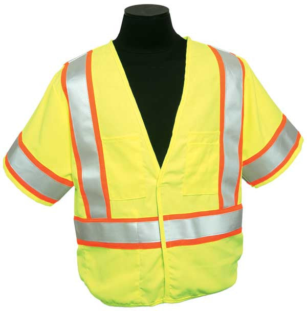 ML Kishigo - FR Pro Series Class 3 Safety Vest color Lime material: Modacrylic Mesh, size 5X-large