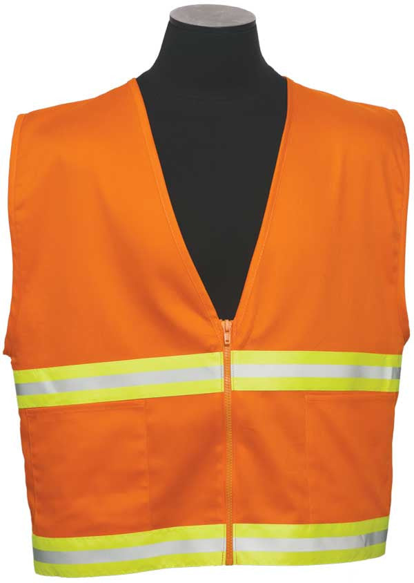 ML Kishigo - 100% Cotton 2-Pocket Safety Vest