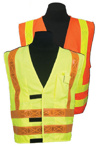 ARC Series 3R Class 2 Safety Vest Size X-large Color: Orange, Type Modacrylic