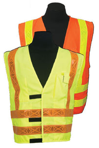 ARC Series 3R Class 2 Safety Vest Size 4X-large Color: Orange, Type Modacrylic Mesh