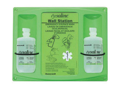 Fend-all 16 Ounce Double Bottle Eyesaline Sterile Eye Wash Wall Station