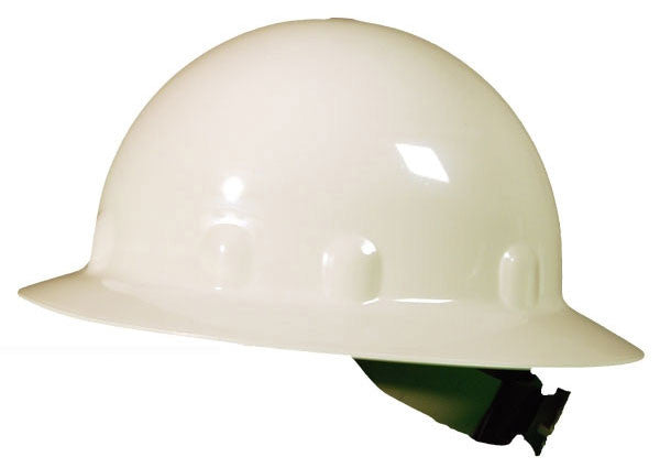 Fibre-Metal White SUPEREIGHT SWINGSTRAP Class E, G or C Type I Thermoplastic Full Brim Hard Hat