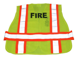 3A Safety - FIRE Print 5-Point Breakaway Mesh Safety Vest - Fire Rated Size 2X-Large - 5X-Large