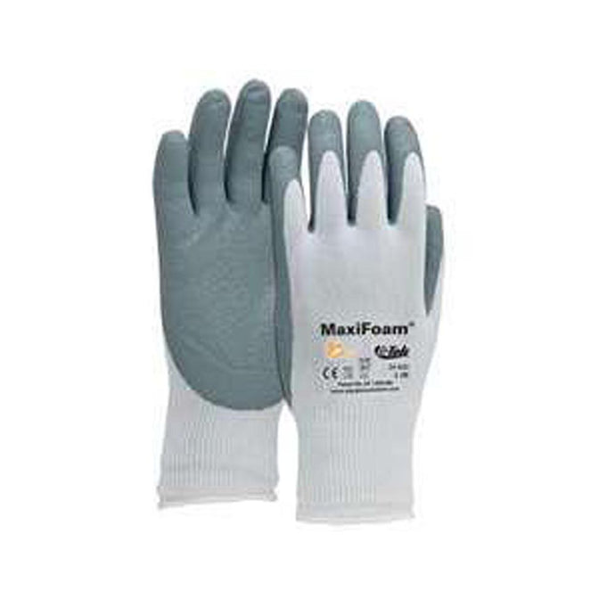 G-Tek MaxiFoam Gloves Foam Nitrile Coated Palm-Finger Tips