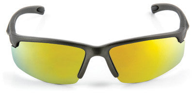 3M  Safety Sunwear Safety Glasses With Gray Frame And Yellow Mirror Polycarbonate Anti-Scratch Lens(10PACK