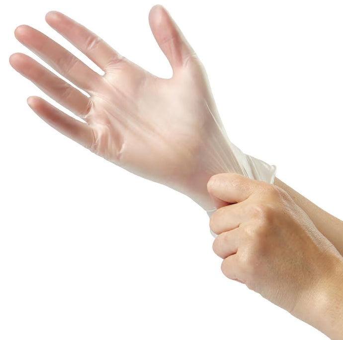 Medline - Glide-On Powder-Free Vinyl Exam Gloves - Box