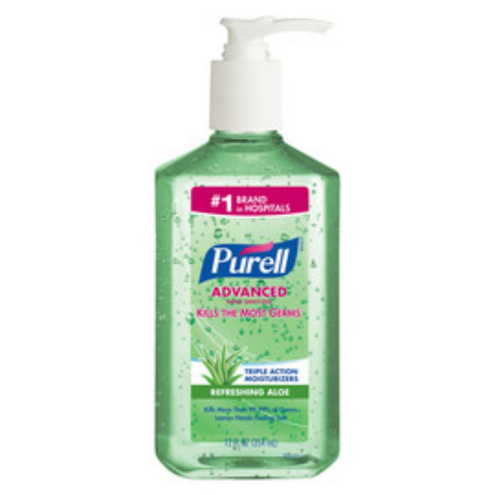 GOJO 12 Ounce Bottle Green PURELL Fragrance-Free Hand Sanitizer