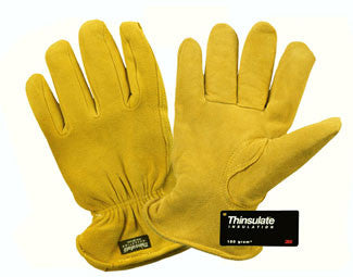 Deerskin Thinsulate Lined - Winter Work Gloves-DOZEN