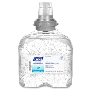 Gojo 1200 Ml Refill Clear Purell Fragrance Free Hand Sanitizer 4