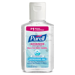 Gojo 2 Ounce Bottle Clear Purell Fragrance-Free Hand Sanitizer (24 Hand Sanitizers - Pack)
