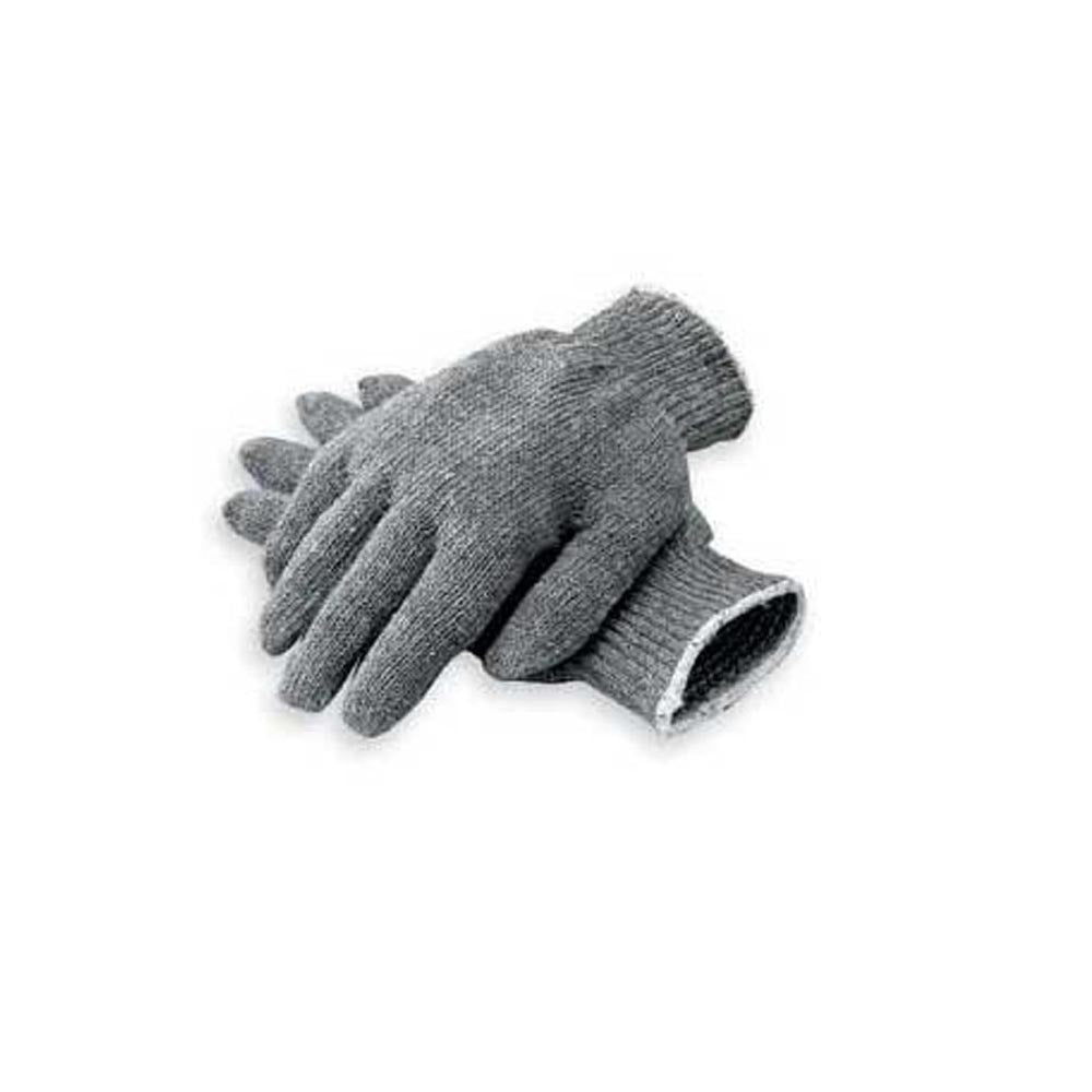 Gray String Knit Gloves - Heavyweight