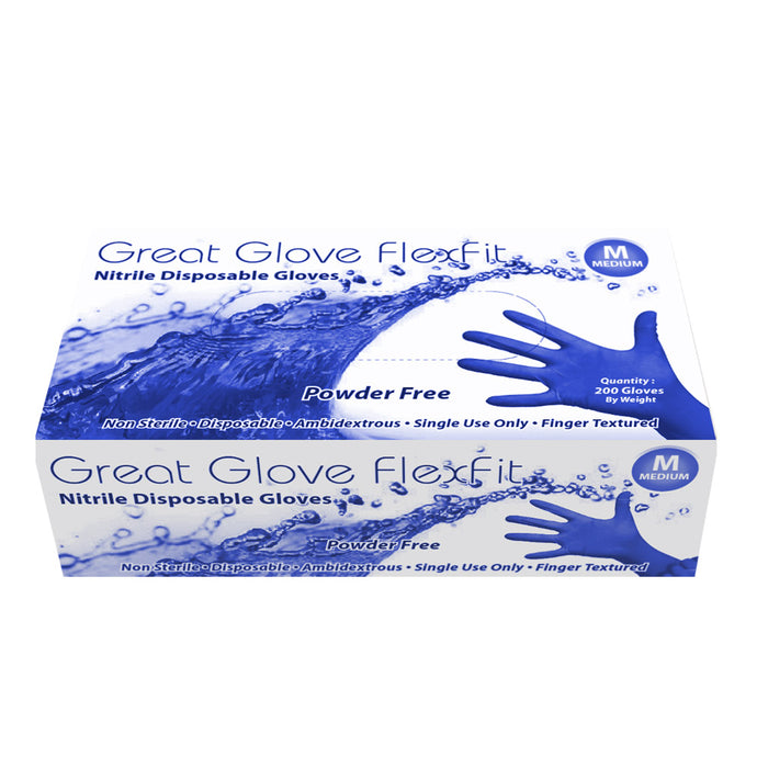 Great Glove - FlexFit Powder-Free Nitrile Disposable Gloves - Case