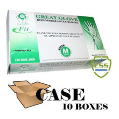 Great Glove - Latex Fit Powder Free Disposable Gloves - Case