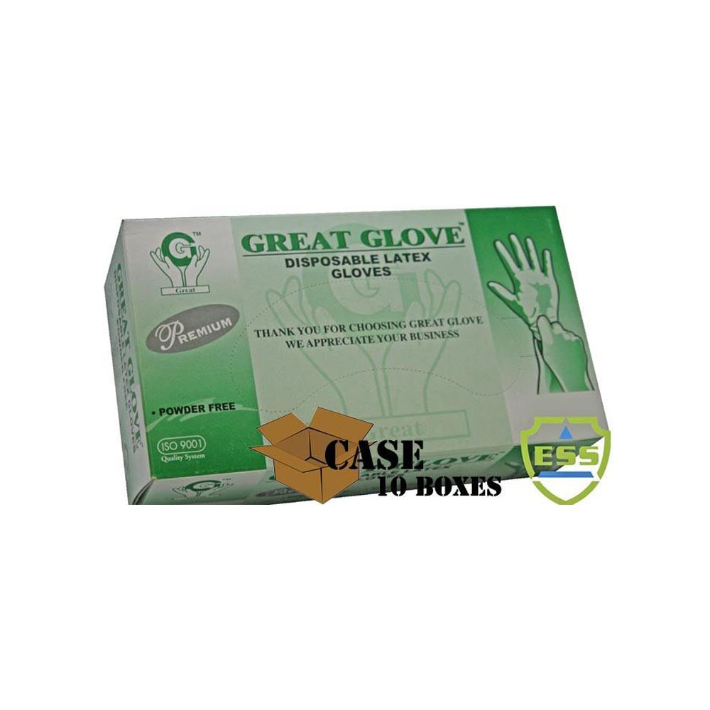 Great Glove - Premium Powder-free Latex Gloves - Case