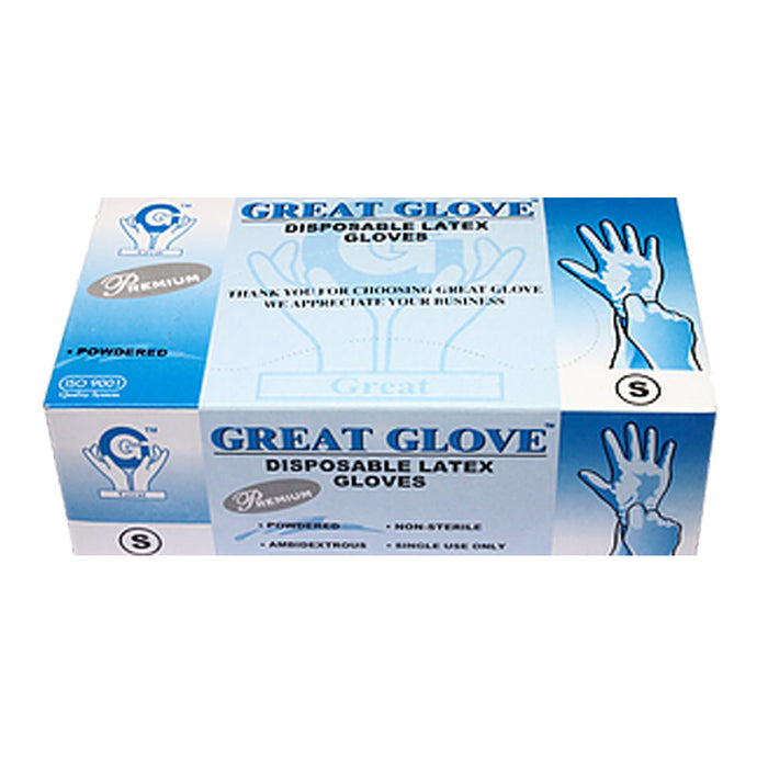 Great Glove Premium Latex Powdered Gloves-Case
