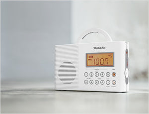 Sangean-FM / AM / Weather Alert Waterproof Shower Radio