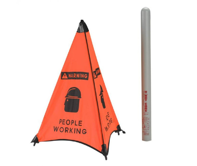 People Working Handy Cone Floor Sign