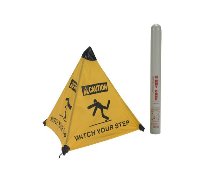 Watch Your Step Handy Cone Floor Sign