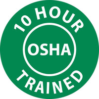 10 Hour Osha Trained Hard Hat Emblem - Pack of 25
