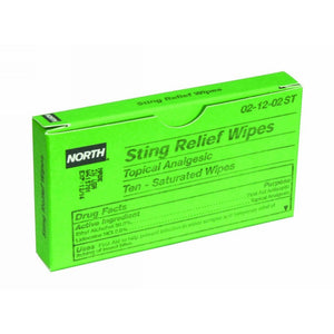 Honeywell 10 Pack Dispense Box North Sting Relief Wipes