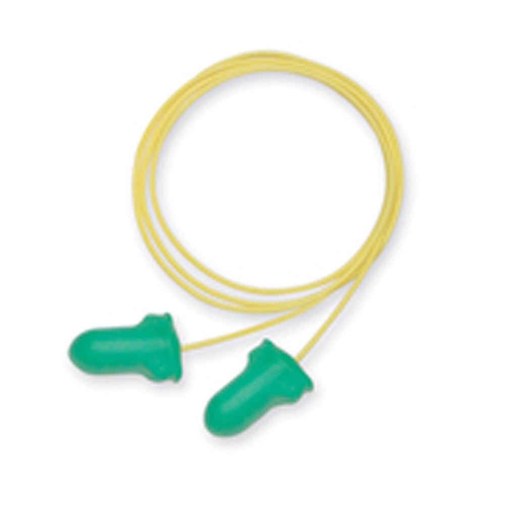 Honeywell Howard Leight/Max-Lite Contoured T-Shape Polyurethane Foam Disposable Corded Earplugs (100 Pair corded Earplugs - Pack)