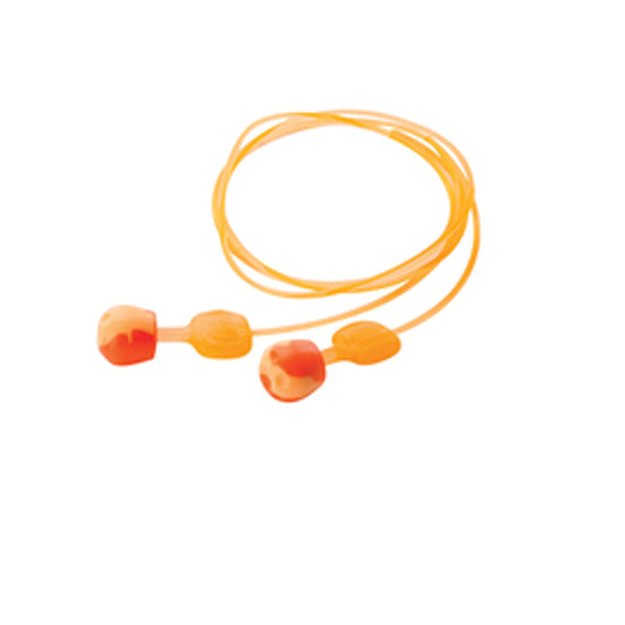Honeywell Howard Leight/TrustFit Pod Push-to-Fit Polyurethane Foam/TPE (Thermoplastic Elastomer) Corded Earplugs (100 Pairs Corded Earplugs - Pack)