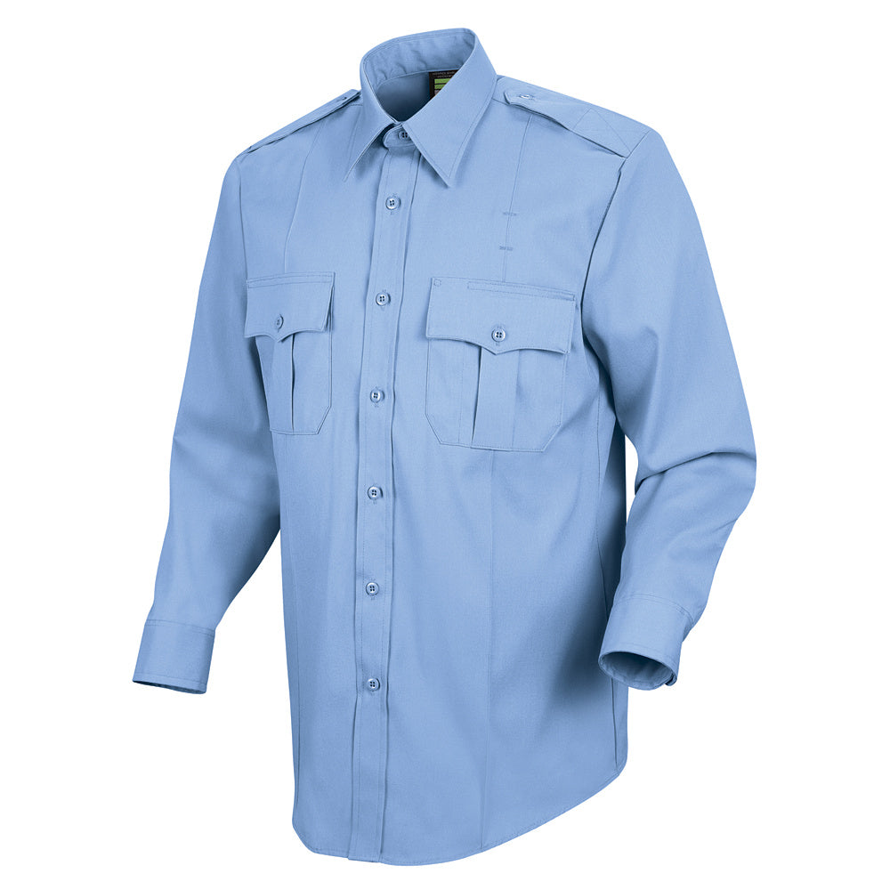 Horace Small New Dimension Stretch Poplin Long Sleeve Shirt HS1114 - Light Blue