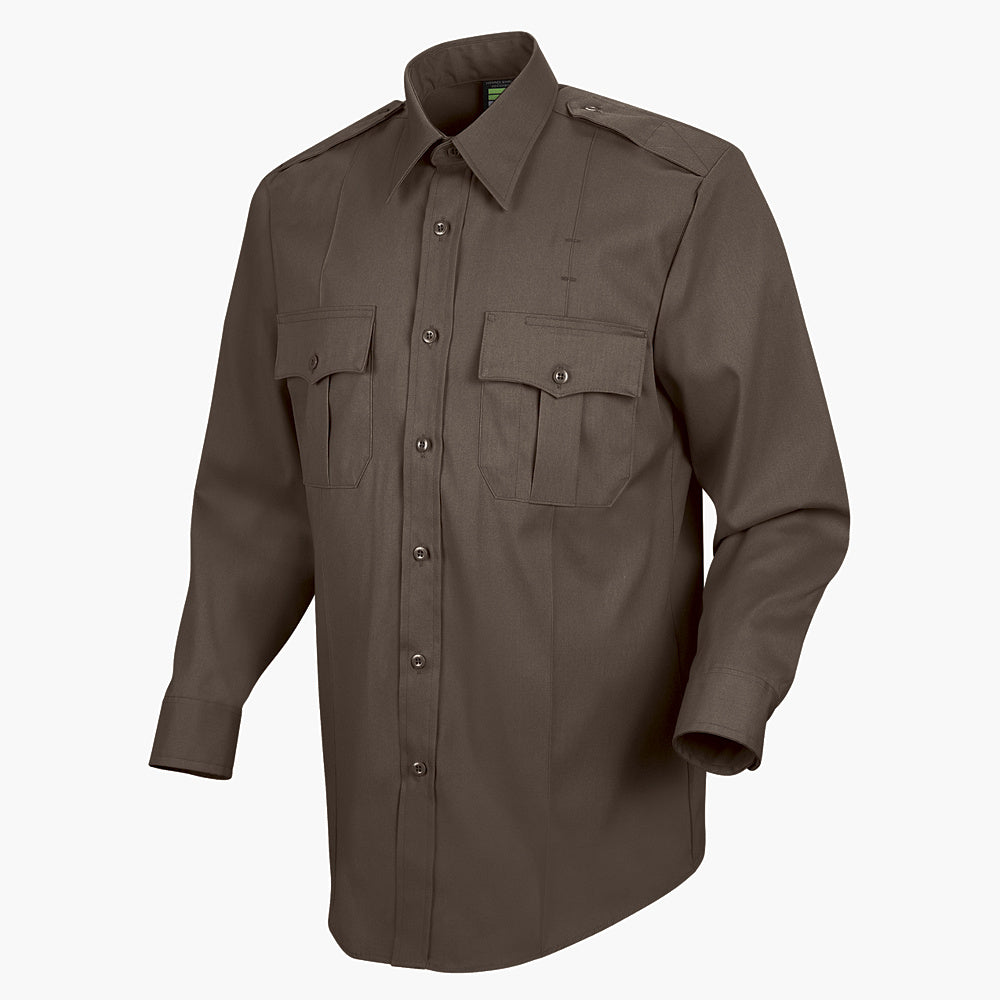 Horace Small Sentry Long Sleeve Shirt HS1145 - Brown