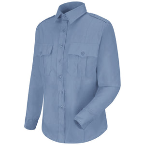Horace Small New Dimension Stretch Poplin Long Sleeve Shirt HS1167 - Light Blue