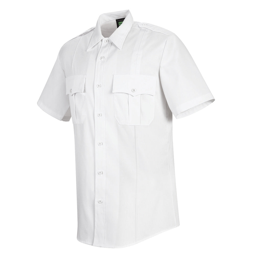 Horace Small New Dimension Stretch Poplin Short Sleeve Shirt HS1212 - White