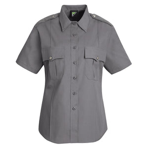 Horace Small New Dimension Stretch Poplin Short Sleeve Shirt HS1267 - Grey