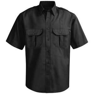 Horace Small New Dimension Ripstop Short Sleeve Shirt HS14BK - Black