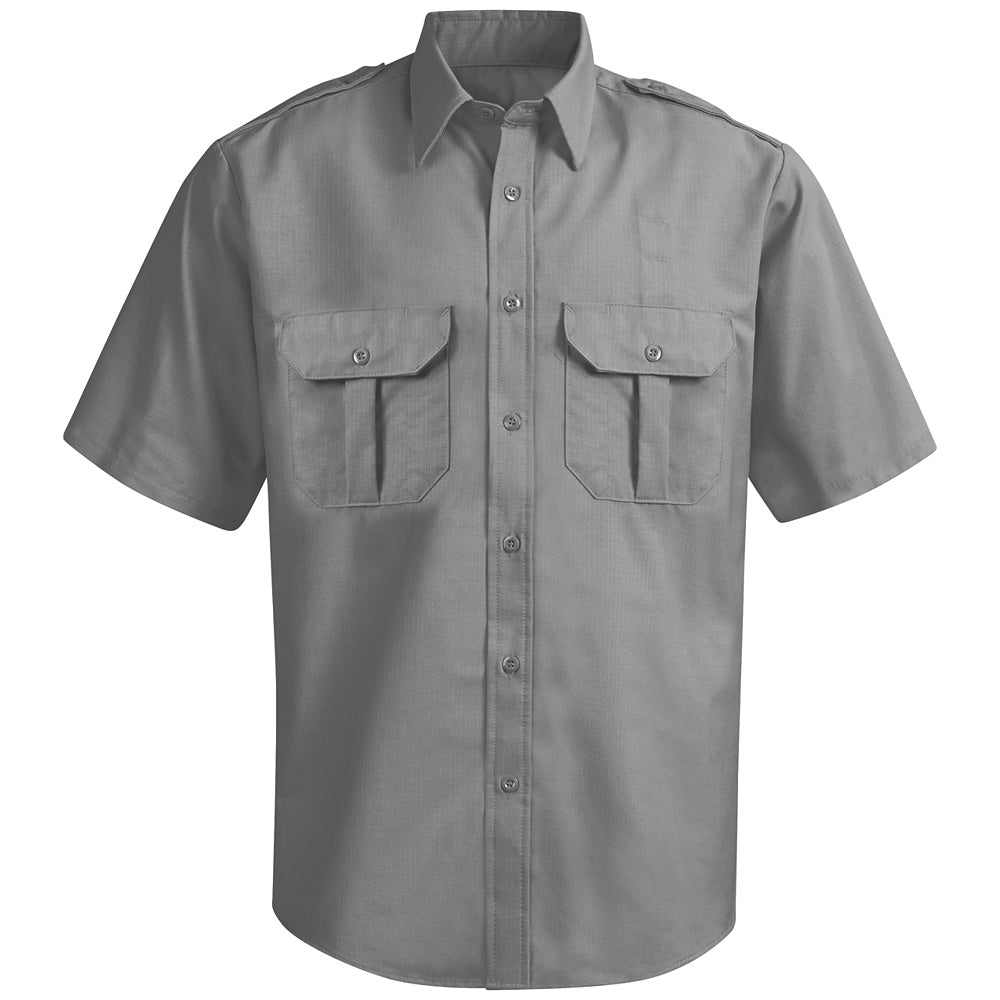 Horace Small New Dimension Ripstop Short Sleeve Shirt HS14GY - Grey