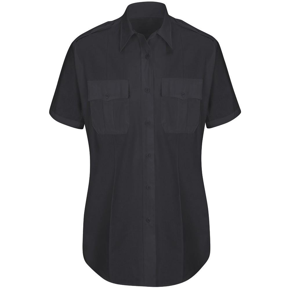 Horace Small New Dimension Plus Short Sleeve Poplin Shirt HS1523 - Dark Navy