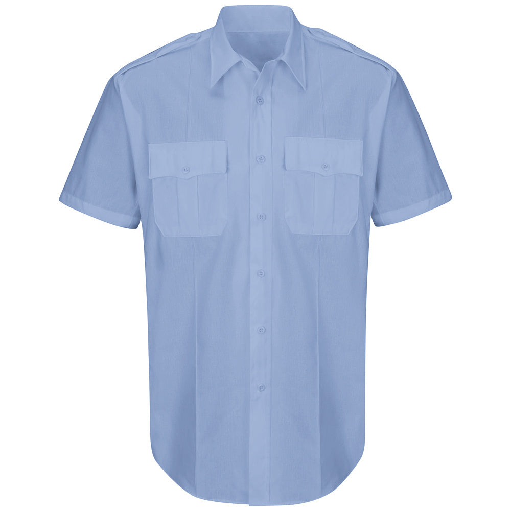 Horace Small New Dimension Plus Short Sleeve Poplin Shirt HS1526 - Light Blue