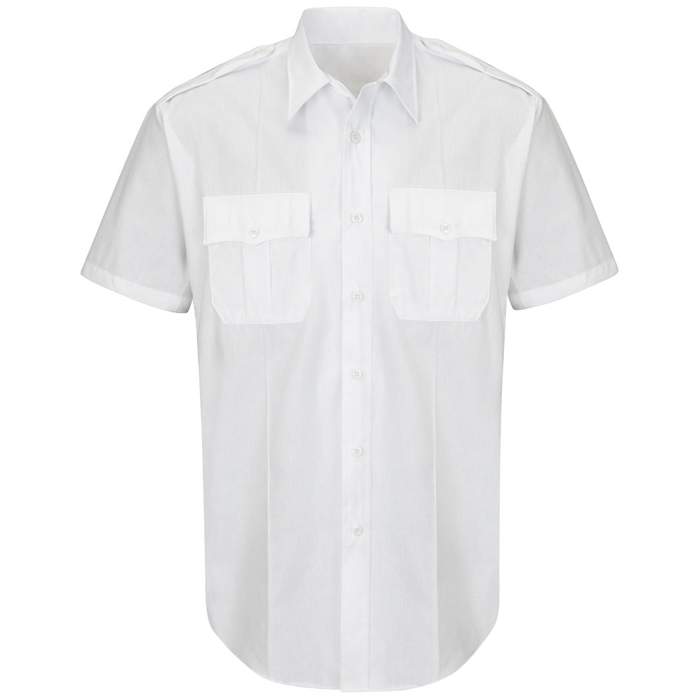 Horace Small New Dimension Plus Short Sleeve Poplin Shirt HS1530 - White