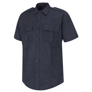 Horace Small 100% Cotton Button-Front Shirt HS1715 - Dark Navy