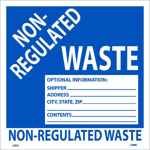 Non Regulated Waste Hazmat Label - Roll