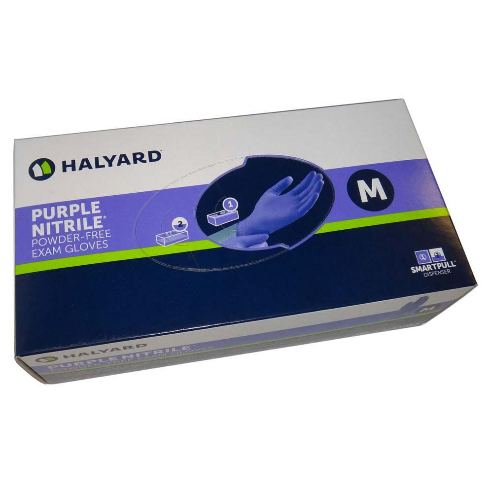 Halyard / Kimberly-Clark - Purple Nitrile Medical Exam Powder Free Gloves - Box