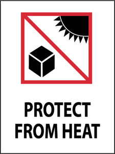 Protect From Heat (Graphic) International Shipping Label - Roll
