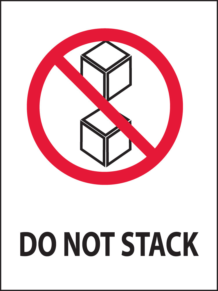 Do Not Stack Label - Roll