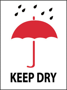 Keep Dry (Graphic) International Shipping Label - Roll