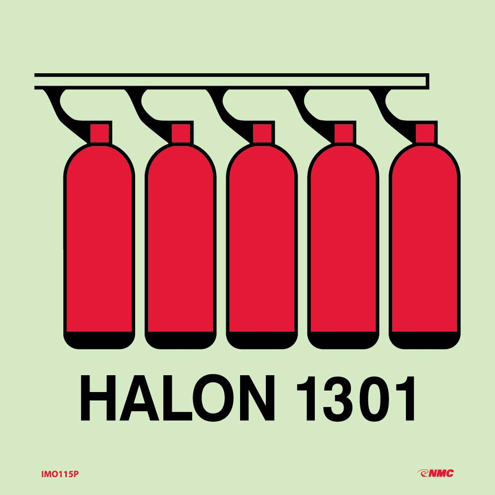 Symbol Halon 1301 Battery Imo Label
