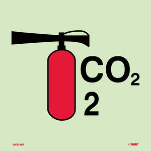 Symbol Fire Extinguisher Co2 Imo Label