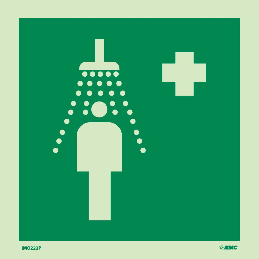Imo Emergency Shower Sign